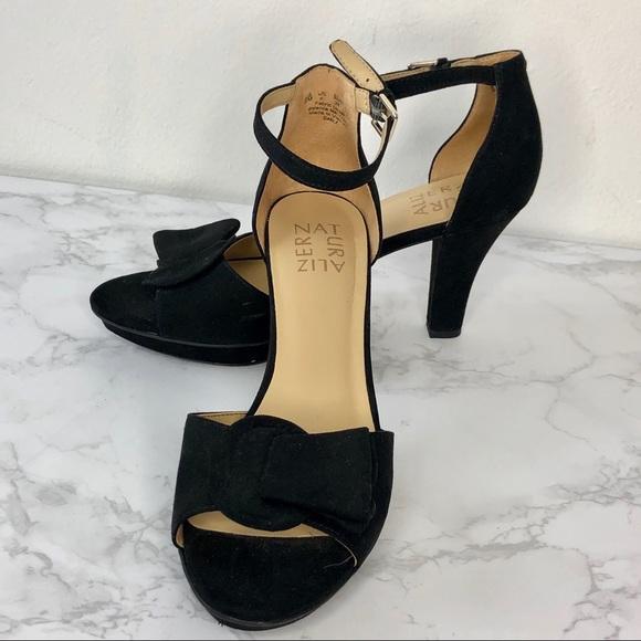 6161637538 Naturalizer Shoes | Black Suede Platform Sandal Darla | Poshmark